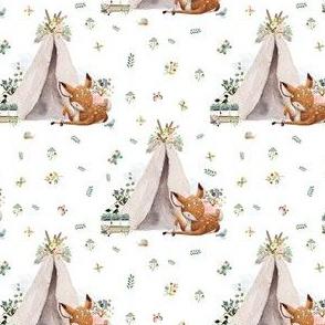 "4"" Boho Botanicals Deer Mix & Match - White"
