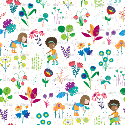 Happy flower garden - small