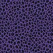 ★ PSYCHOBILLY LEOPARD – LEOPARD PRINT in PURPLE (Ultra Violet) ★ Tiny Scale / Collection : Leopard Spots – Punk Rock Animal Print