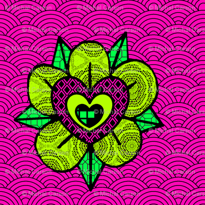 Pink_and_green_flower_wave_pattern3_preview
