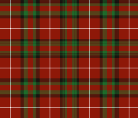 "Stewart of Bute hunting tartan, 6"" fabric by weavingmajor on Spoonflower - custom fabric"