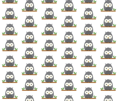 Owlet fabric by mintparcel on Spoonflower - custom fabric