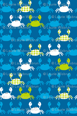 Dont be Crabby Crabs Blue