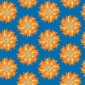 Perfectly Blue Da Vinci Sunflowers 2