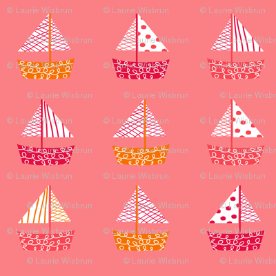 Dont be Crabby Boats Pink