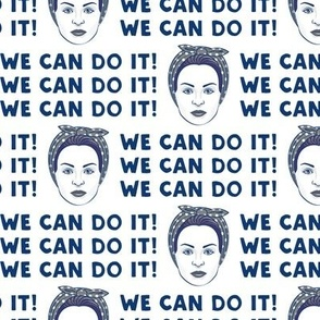 We Can Do It! Rosie in blue