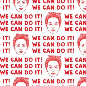 We Can Do It! Rosie in red
