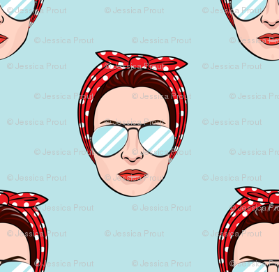 Rosie w/ glasses (blue)