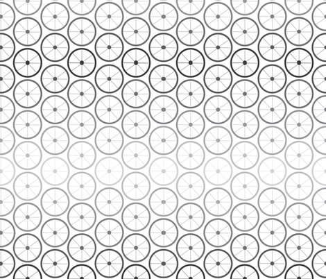Wheels in Grey fabric by saflo_creations on Spoonflower - custom fabric