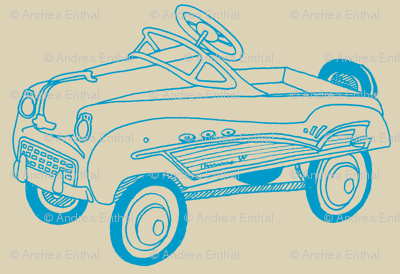 Nifty Fifties Child's Pedal Car sketch