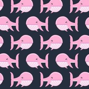 whale (pink on dark blue)