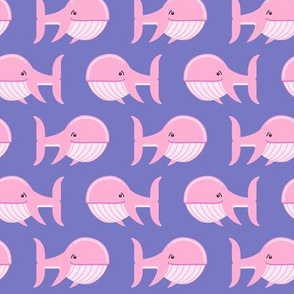 whale (pink on purple)