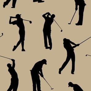 Golfers on Khaki // Large