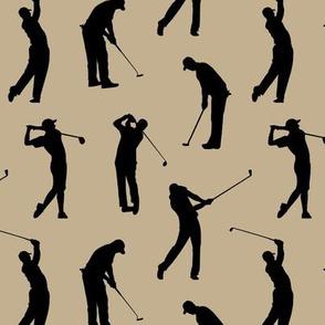 Golfers on Khaki // Small