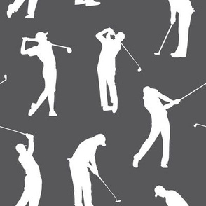 Golfers on Charcoal Grey // Large
