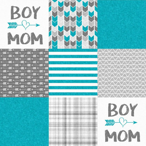 Boy Mom - Wholecloth Cheater Quilt