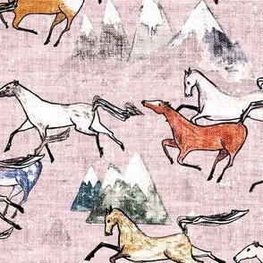 Wild Bush Horses (blossom) MED