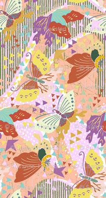 butterflies apricot