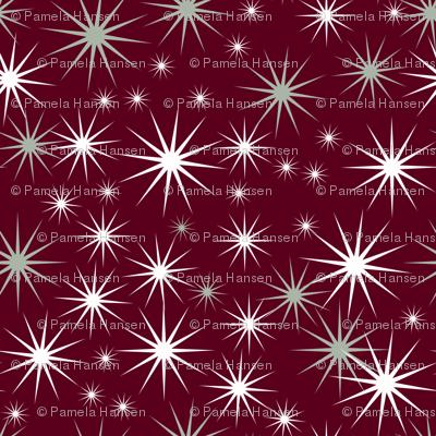 Stars on burgundy