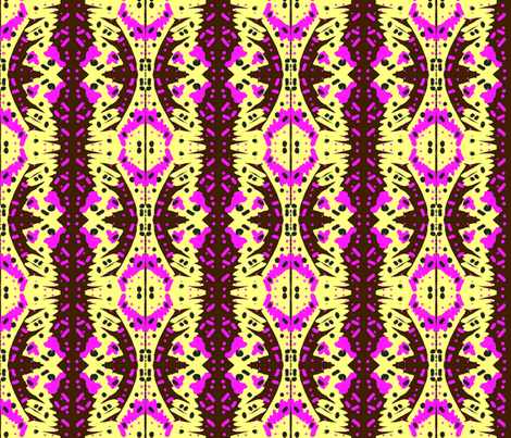 Asabuhi 1 in Pink Black & Yellow fabric by tabasamu_design on Spoonflower - custom fabric