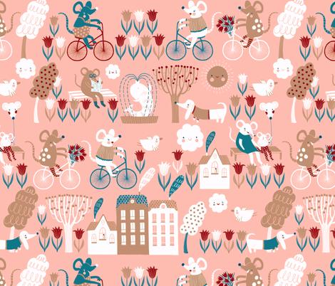 Cycling fabric by wideeyedtree on Spoonflower - custom fabric