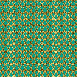 endless knots (emerald yellow)25