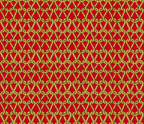 endless knots (red yellow)25  fabric by chicca_besso on Spoonflower - custom fabric