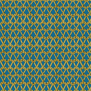 endless knots (light blue yellow)25
