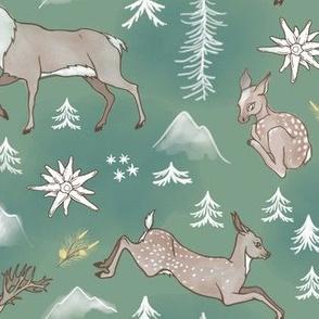 Deers & Edelweiss