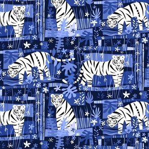 Tiger Tiger White 12x12