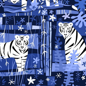 Tiger Tiger White 24x24