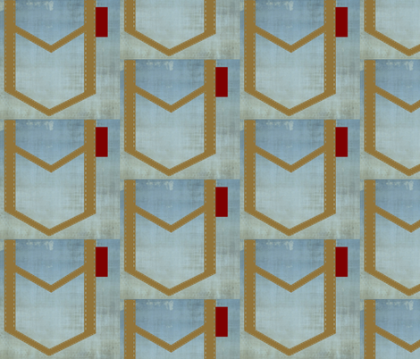 Jean Pockets vintage red tag fabric by drapestudio on Spoonflower - custom fabric