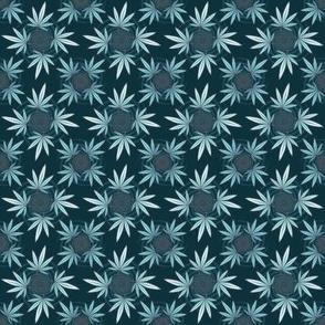 ★ CHECKERED WEED ★ Dark Teal / Collection : Cannabis Factory 2 – Marijuana, Ganja, Pot, Hemp and other weeds prints