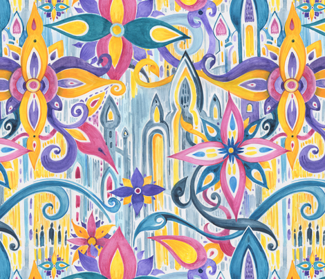Watercolor Marrakesh fabric by katyau on Spoonflower - custom fabric