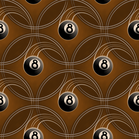 ★ MAGIC EIGHT BALL in GOLD ★ Small Scale Print fabric by borderlines on Spoonflower - custom fabric
