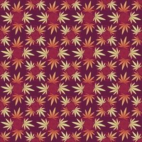 ★ CHECKERED WEED ★ Purple Red & Orange / Collection : Cannabis Factory 2 – Marijuana, Ganja, Pot, Hemp and other weeds prints