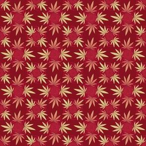 ★ CHECKERED WEED ★ Red / Collection : Cannabis Factory 2 – Marijuana, Ganja, Pot, Hemp and other weeds prints