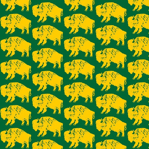 Bison Print - OFFICIAL Green & Gold (3.86 Inches)