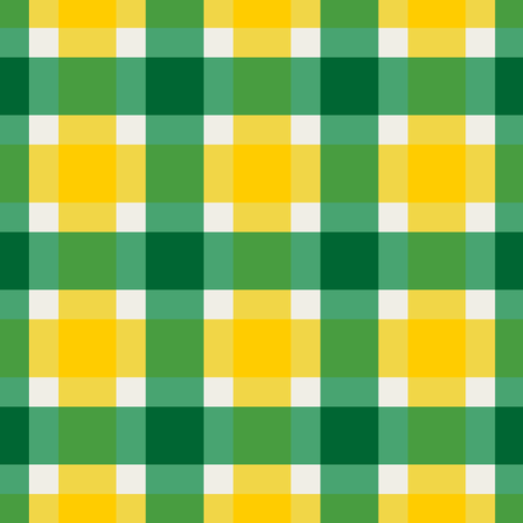 Plaid - Green & Gold with Official Colors fabric by kelly_korver on Spoonflower - custom fabric