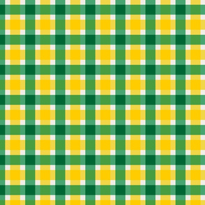 Plaid - Green & Gold with Official Colors