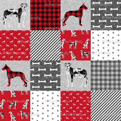 great dane harlequin coat pet quilt a wholecloth cheater