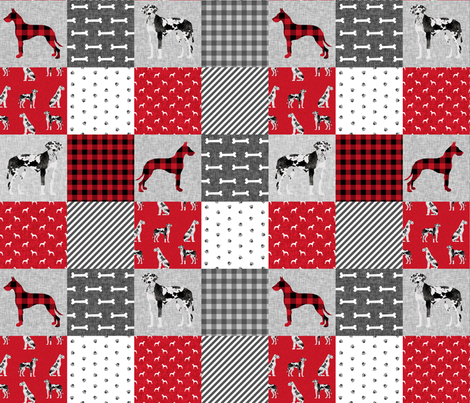 great dane harlequin coat pet quilt a wholecloth cheater fabric by petfriendly on Spoonflower - custom fabric