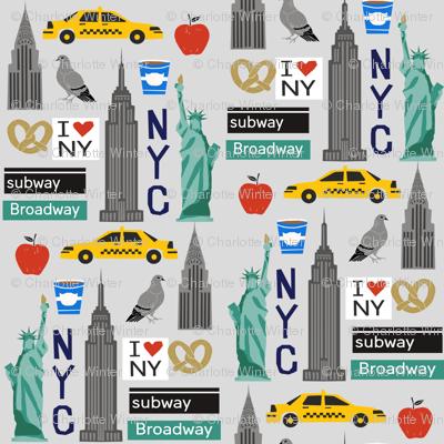 nyc tourist travel usa new york city fabric grey