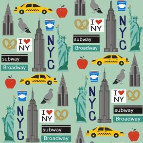nyc tourist travel usa new york city fabric mint