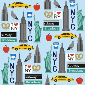 nyc tourist travel usa new york city fabric blue