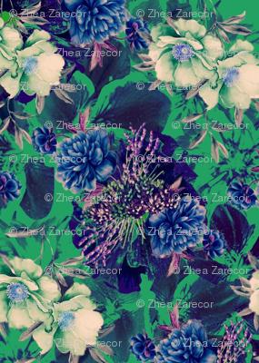 Dark Blue Carnations