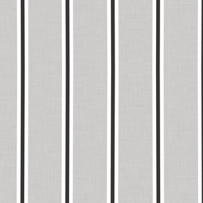 French gray striped linen farmhouse stripe