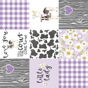 Little Lady// Love you till the cows come home - Wholecloth Cheater -Purple- Rotated