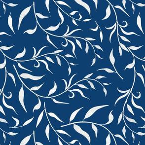 Vines On Blue