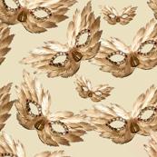 Golden Feather Masks